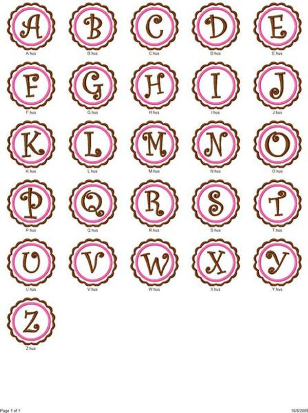 Classic Scallop Monogram Set