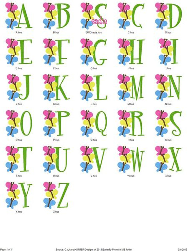 Butterfly Promise Monogram Set