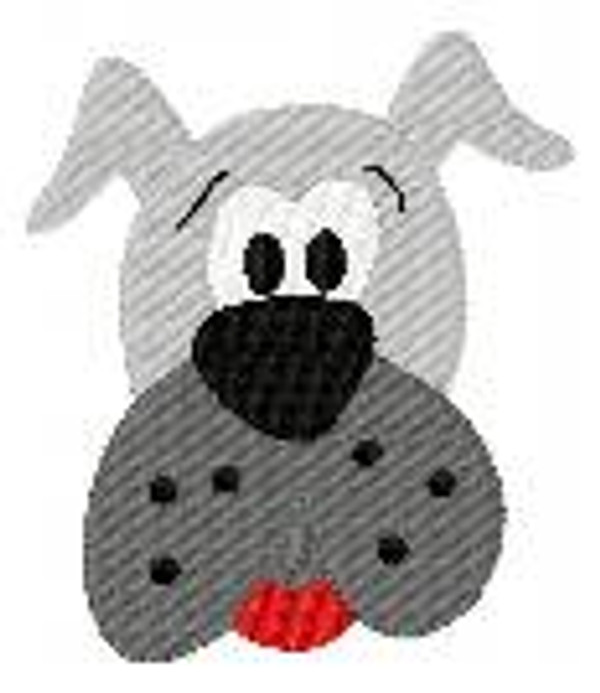 Bulldog Face Mascot Single