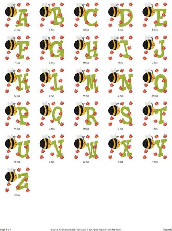 Bee Around Town Monogram Set