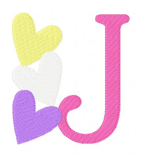 Candy Valentine Heart Monogram Set