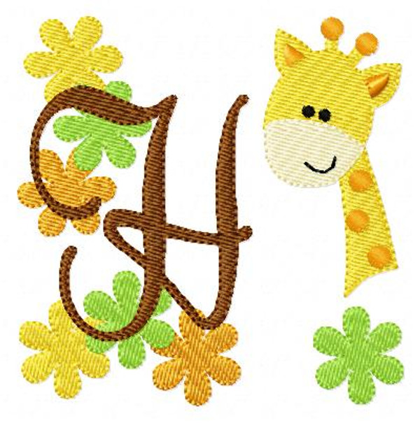 Giraffe Zoo Monogram Set
