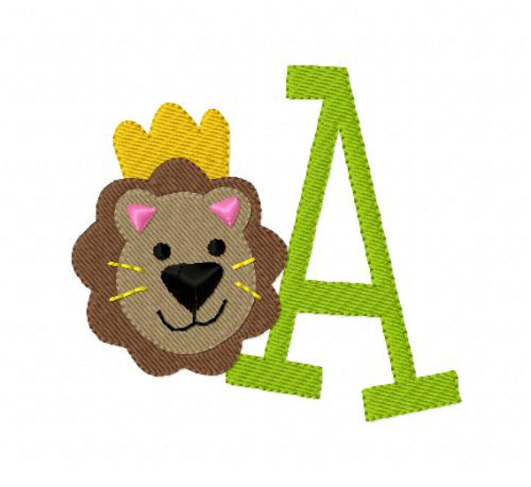King Lion Zoo Animal Monogram Design Set