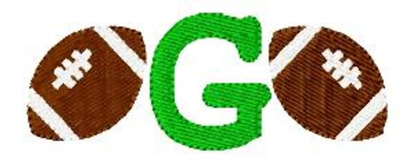 Football Sports Mini Monogram Set