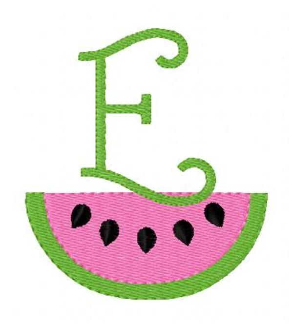 Watermelon Summer Picnic Fun Monogram Design Set