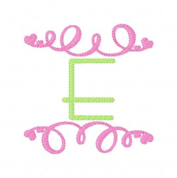 Swirly Hearts Valentine Monogram Set
