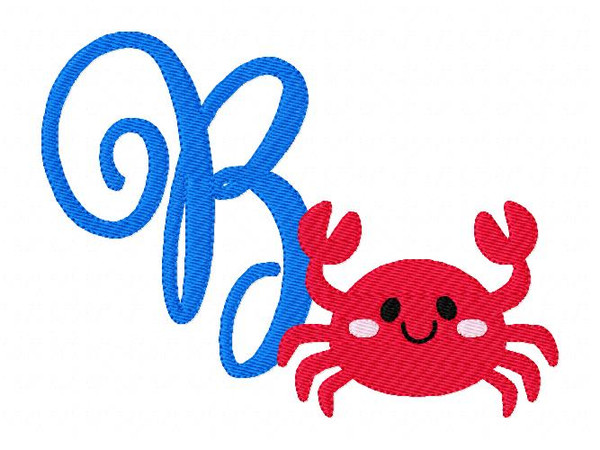 Crab Summer 5x7 Monogram Set
