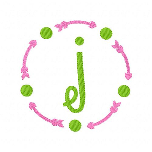 Arrow Dot Circle Monogram Set
