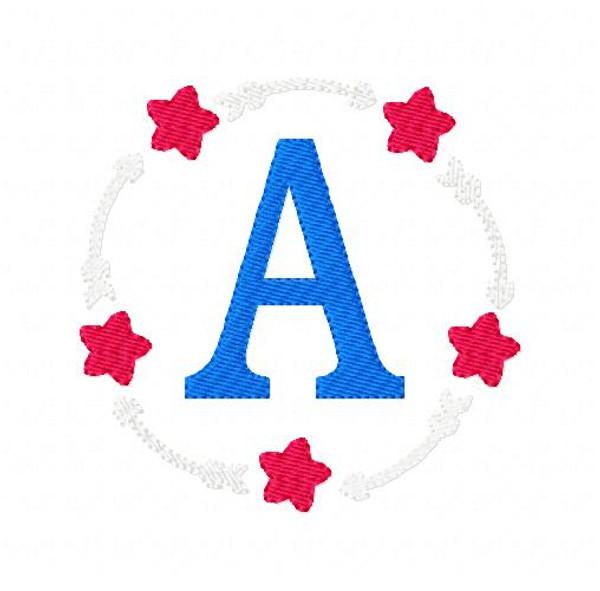 Arrows & Stars Circle Monogram Set