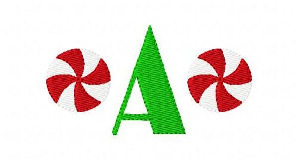 Peppermint Christmas Candy Mini Monogram Set