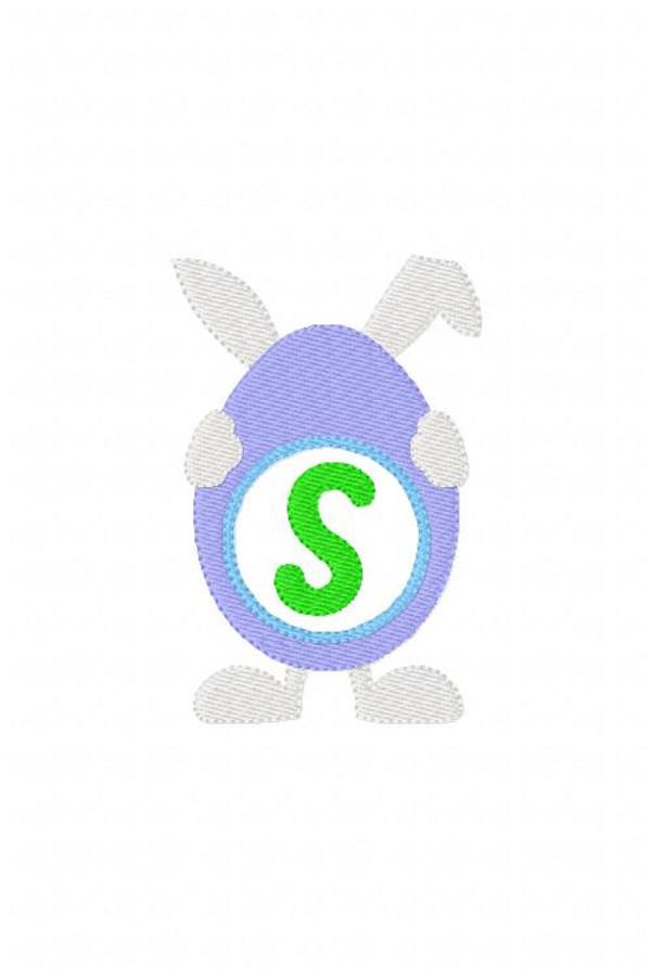 Easter Egg Bunny 4x4 Monogram Font Design Set Spring
