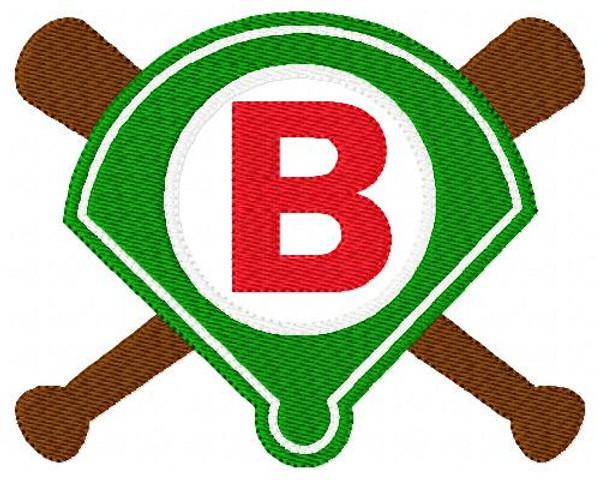 Baseball Diamond 5x7 Monogram Design Set