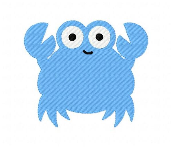 Crab Beach Summer Machine Embroidery Design Plus Bonus