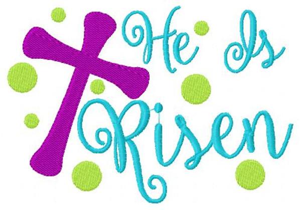 He Is Risen Easter Cross 5x7