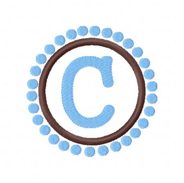 Circle Monogram with Dots Set