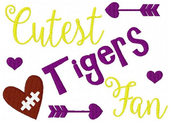 Tigers // Cutest Fan // Football // Bonus Included