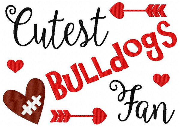 Bulldogs // Football // Cutest Fan // Bonus Included