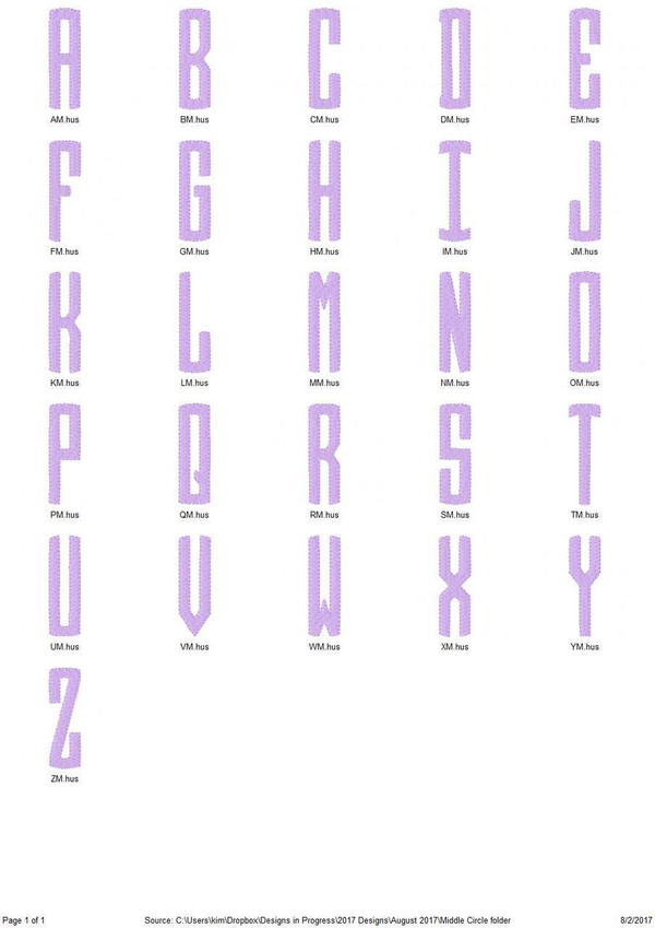 Santa 3 letter Circle Monogram Set