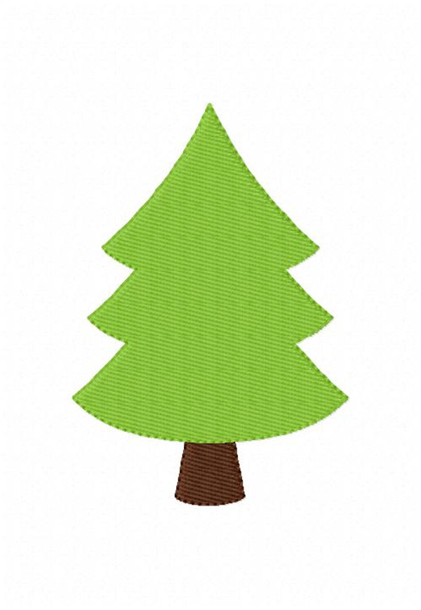 Tree Christmas Camping Embroidery Design