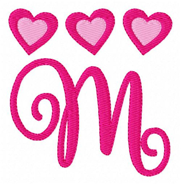 Valentine Heart Monogram Set