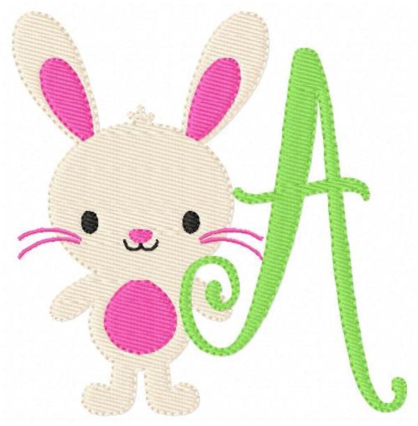 Bunny Spring 218 Monogram Set