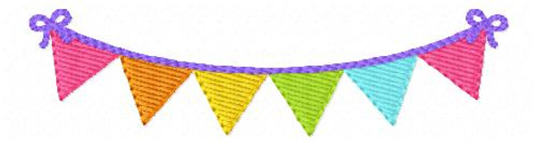 Birthday Celebration Banner Embroidery