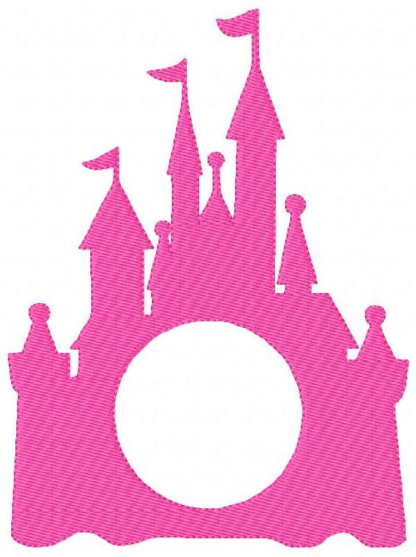 Castle 3 Three Letter Circle Monogram Embroidery Design Set