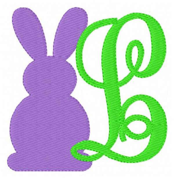 Easter Bunny Monogram Embroidery Set
