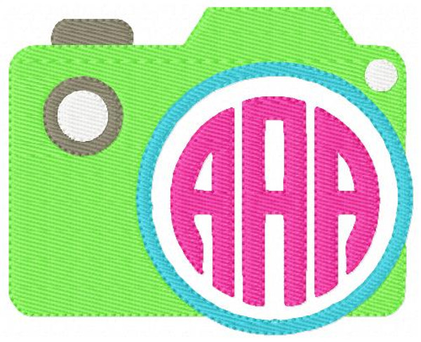Camera Vacation 3 Three Letter Monogram Set