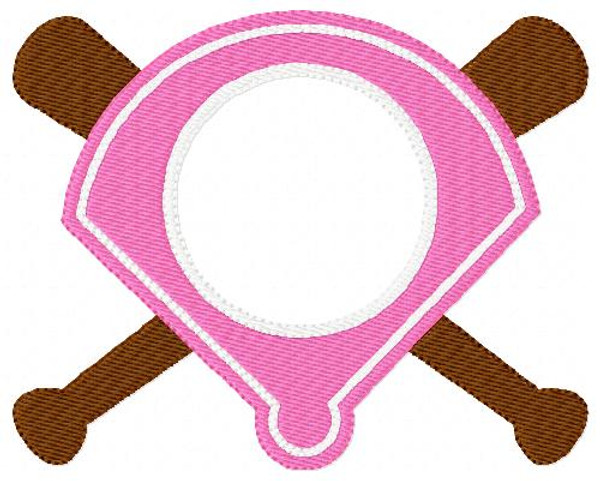 Softball Three Letter Monogram Embroidery Set