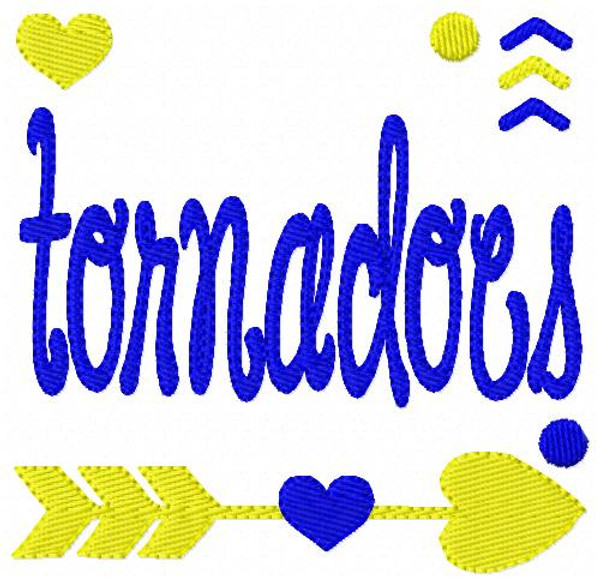 Tornadoes Sports Embroidery Design