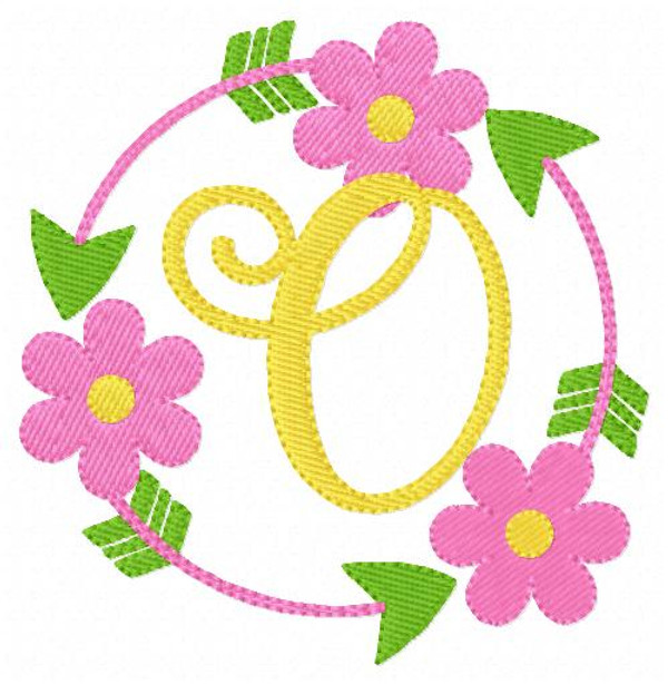 Daisy Circle Monogram Embroidery Set