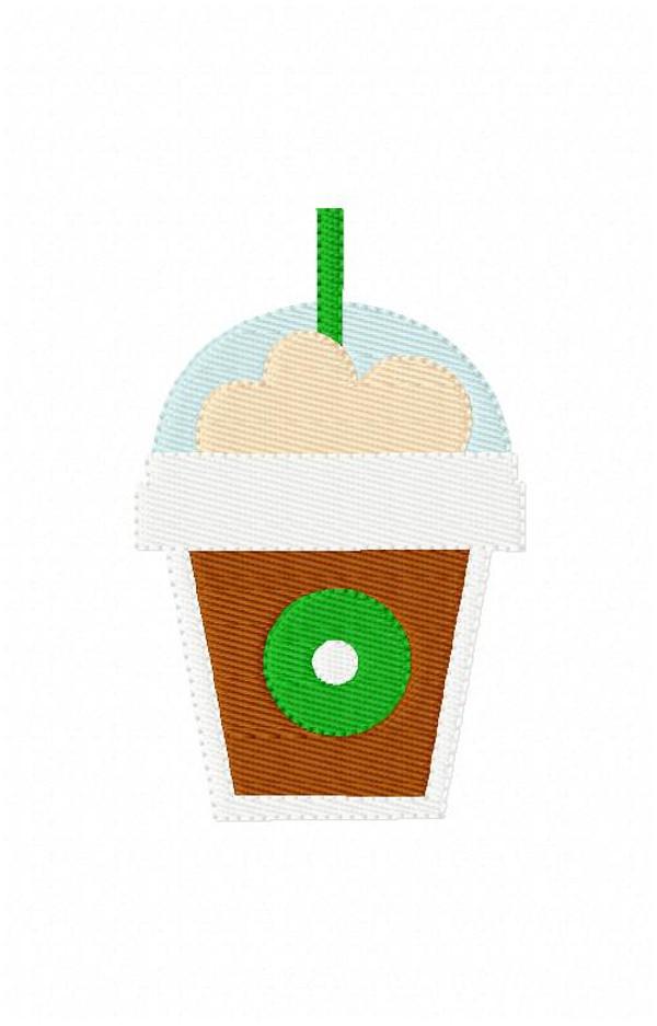 Coffee Frappuccino Embroidery Design