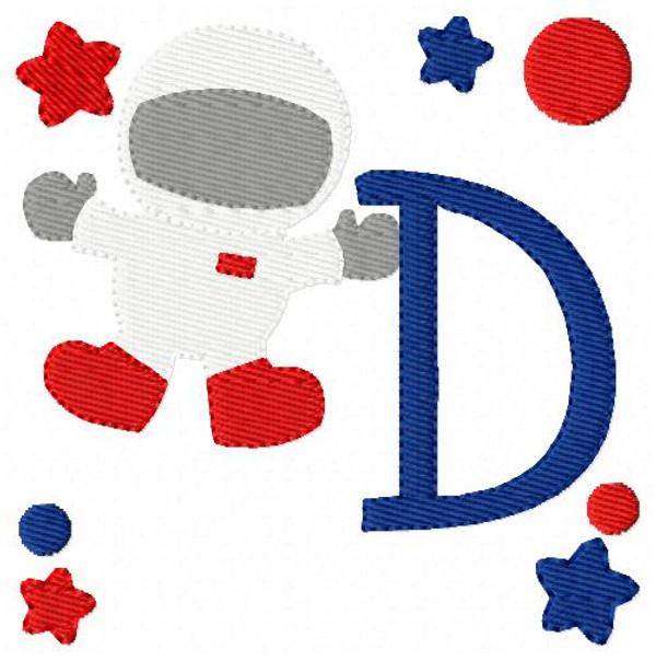 Space Man Astronaut Monogram Set