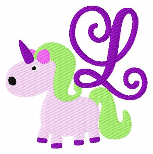 Unicorn Cutie Monogram Embroidery Set