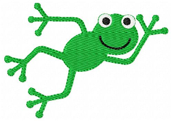 Frog Machine Embroidery Design
