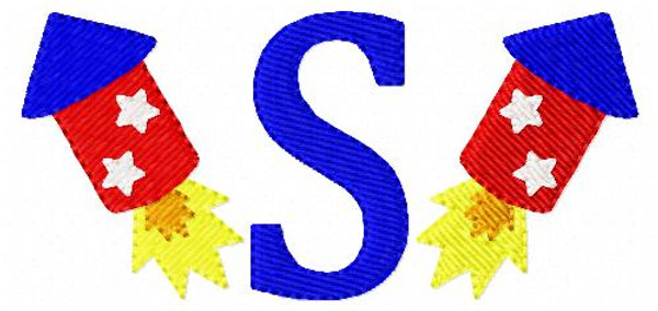 Firecrackers - Fireworks - July 4th - Patriotic - Machine Embroidery Designs - Mini Monogram Font