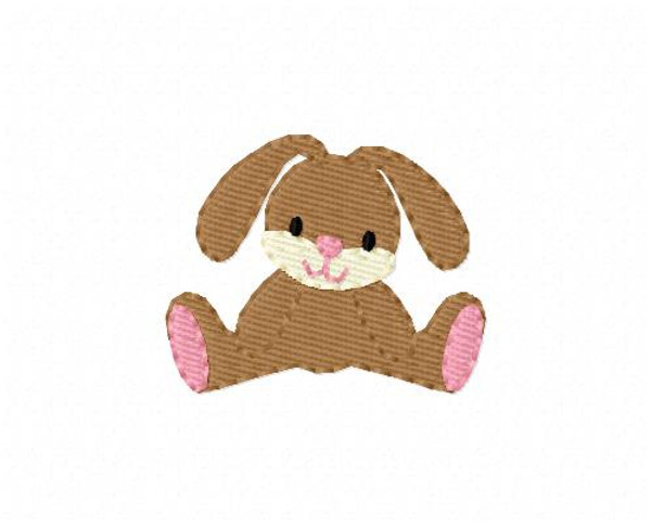 Floppy Bunny Rabbit Small Embroidery Design
