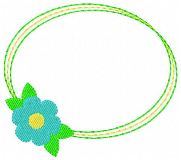 Daisy Day Oval 3 Letter Monogram Embroidery Set