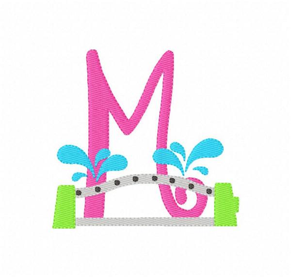 Sprinkler Fun Summer Monogram Embroidery Design Set