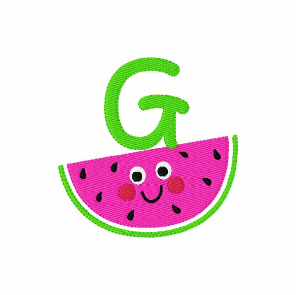 Watermelon Cutie Monogram Embroidery Design Set