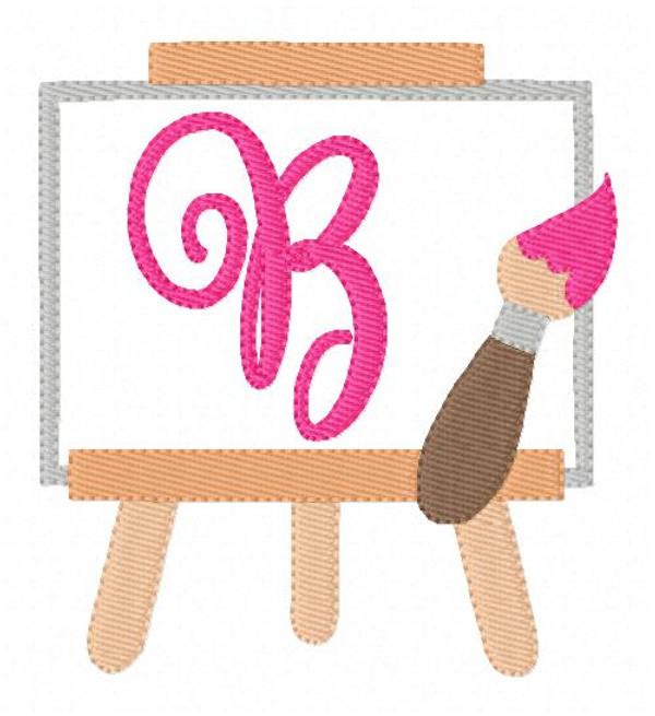 Painting Day Machine Embroidery Monogram Design Set