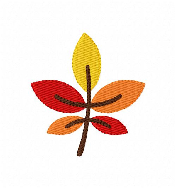Autumn Fall Leaves Embroidery Design in 2 sizes