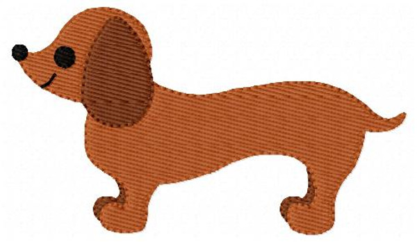 Dachshund Dog Puppy Pet Doggy Embroidery Design