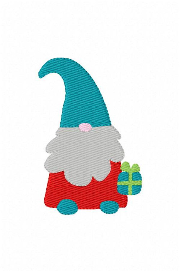 Christmas Gnome Machine Embroidery Design