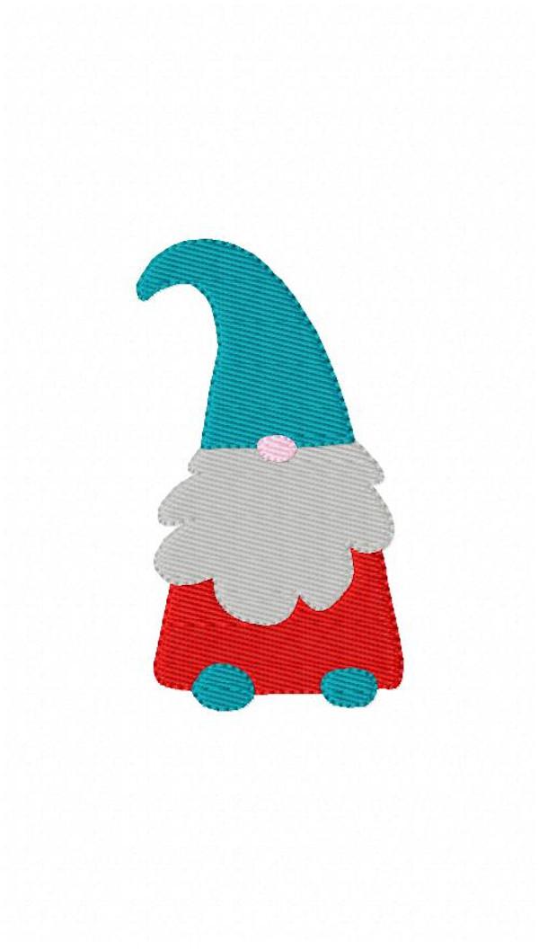 Gnome Machine Embroidery Design