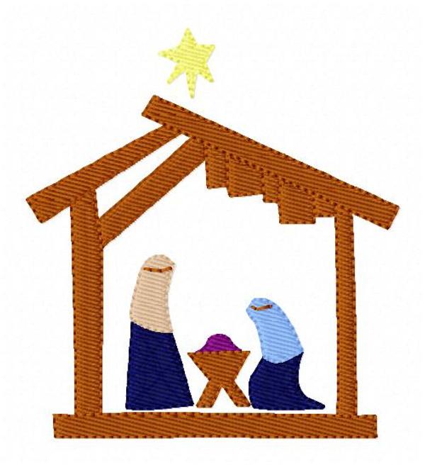 Christmas Nativity Embroidery Design