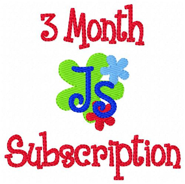 Three (3) Month Monogram Embroidery Design Subscription