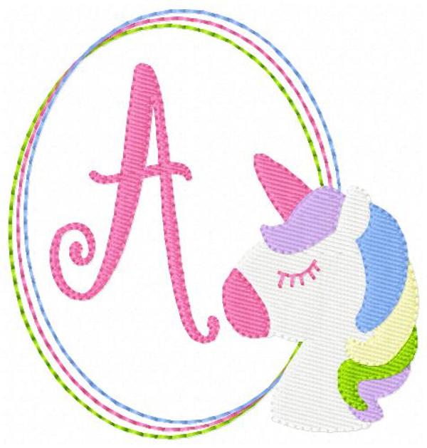 Unicorn Pony Machine Embroidery Monogram Designs Monogram Font Set