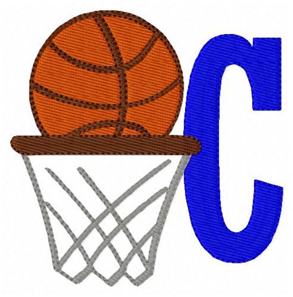 Basketball Machine Embroidery Monogram Designs Font set